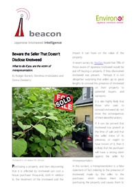 House sellers not disclosing knotweed