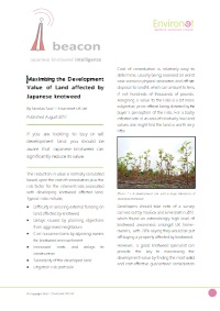 Maximising the Development Value of Land affected by Japanese knotweed.