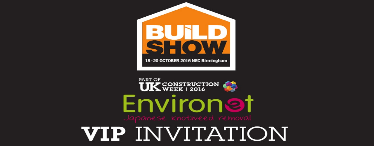 Environet invitation to the Build Show