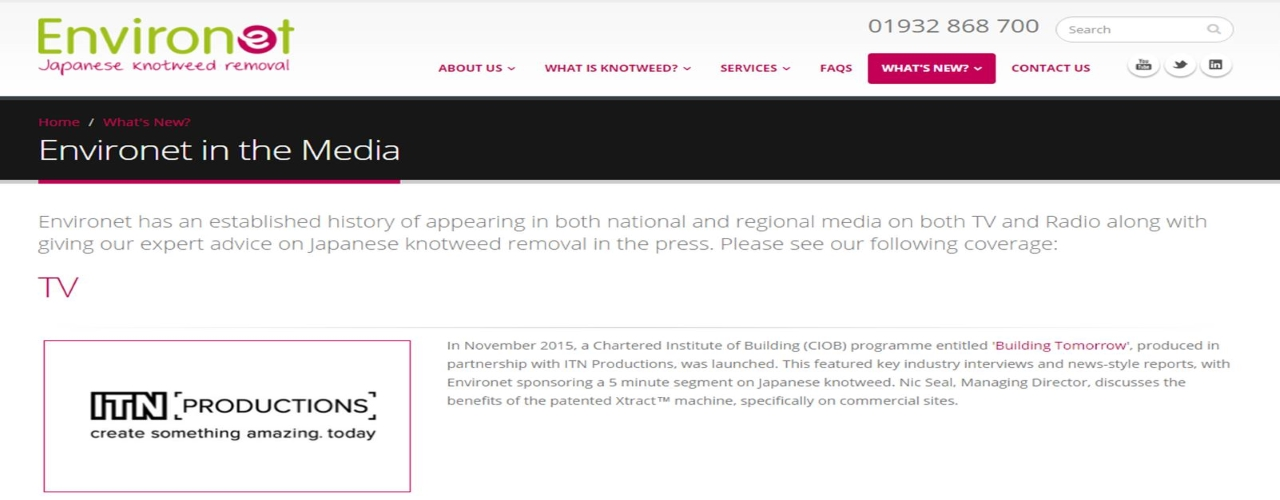 Environet Knotweed Removal in the Media