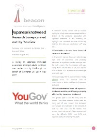 YouGov research undertaken for Environet